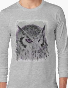 Violet Owl Long Sleeve T-Shirt