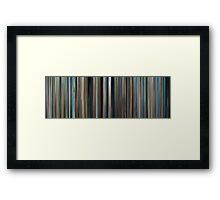 Moviebarcode: The Big Blue / Le grand bleu (1988) Framed Print
