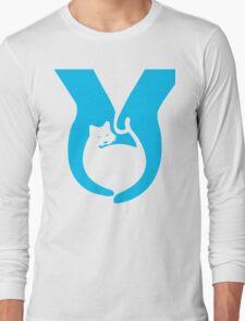 Blue Cat Helping Hands Long Sleeve T-Shirt
