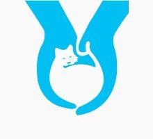 Blue Cat Helping Hands Unisex T-Shirt