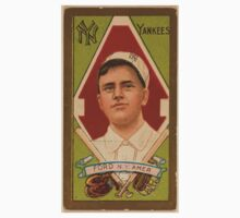 Benjamin K Edwards Collection Russell Ford New York Yankees baseball card portrait Baby Tee