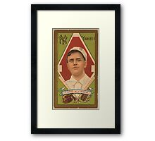 Benjamin K Edwards Collection Russell Ford New York Yankees baseball card portrait Framed Print