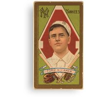 Benjamin K Edwards Collection Russell Ford New York Yankees baseball card portrait Canvas Print
