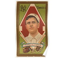 Benjamin K Edwards Collection Russell Ford New York Yankees baseball card portrait Poster