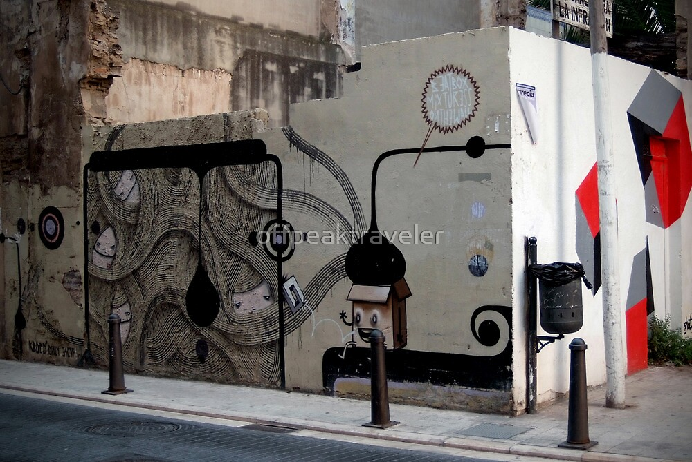 quirky street art feature wall by offpeaktraveler