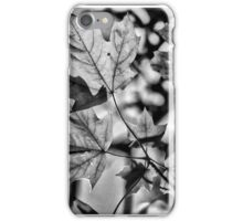 Leaves in Black and White iPhone Case/Skin