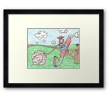 Rodeo Rocket Framed Print