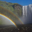 double rainbow at Skógafoss  by lukasdf