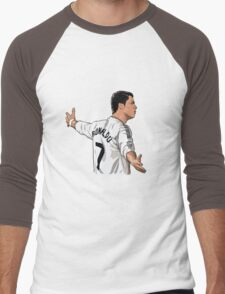 Cristiano ronaldo Real madrid cartoon Men's Baseball ¾ T-Shirt