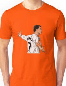 Cristiano ronaldo Real madrid cartoon Unisex T-Shirt
