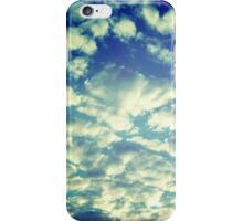 Hipstamatic Puff Clouds Blanketing The Sky iphone case iPhone Case/Skin