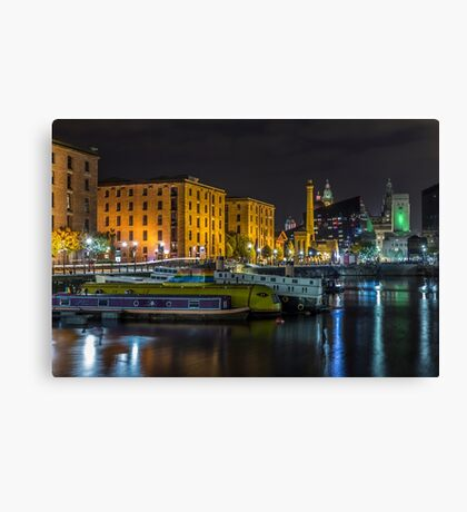 Brilliant Boats and Buildings Canvas Print