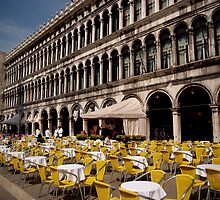 yellow chairs in venice by offpeaktraveler