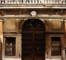 rustic venetian doorway & balcony by offpeaktraveler