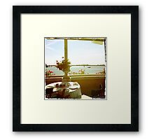 Here's A Table With A View Framed Print