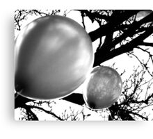 Balloons BW Canvas Print