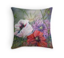 Poppies Passing Throw Pillow