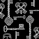Vintage Skeleton Keys by Zehda