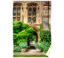 College Garden - Oxford, England Poster