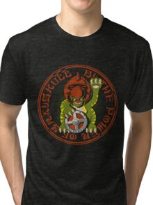Beckoning Battle-Cat Tri-blend T-Shirt