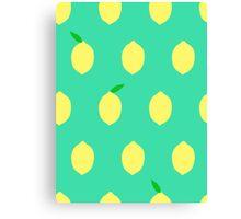 Cute Lemon Pattern Canvas Print