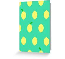 Cute Lemon Pattern Greeting Card