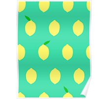 Cute Lemon Pattern Poster