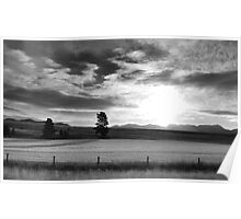 Montana Sunrise Poster
