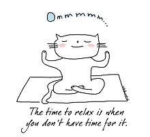 Yoga - meditation time / Cat doodles by eyecreate