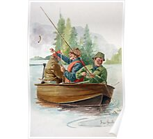 Three men in a boat ( Fishing ) Poster