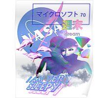 NASA Alien vaporwave aesthetics Poster