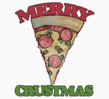 Merry CRUSTmas pizza christmas Baby Tee