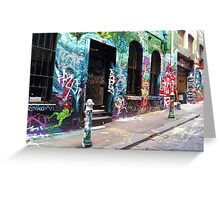 Graffiti Lane Greeting Card