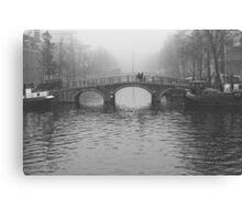 On the bridges of Amsterdam Canvas Print