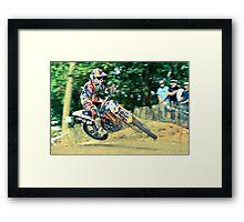 MX jump Framed Print