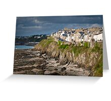 Houses on the cliff Greeting Card