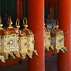 Golden Japanese latern by Maxim Mayorov