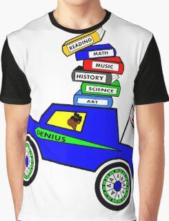 Genius Boy Driving Sports Car Graphic T-Shirt