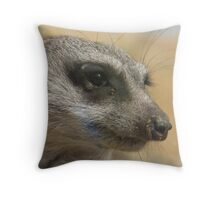 hello meerkat so very nice to meet you Throw Pillow