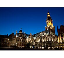 Night European city Photographic Print