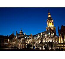 Night European city Photographic Print