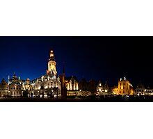 Night panorama of Verne,  Belgium Photographic Print