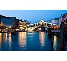 Rialto bridge in Venice, Italy Photographic Print