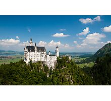 Castle on a hill with a view Photographic Print