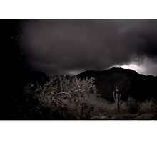 Rain in the White Tank Mountains Photographic Print