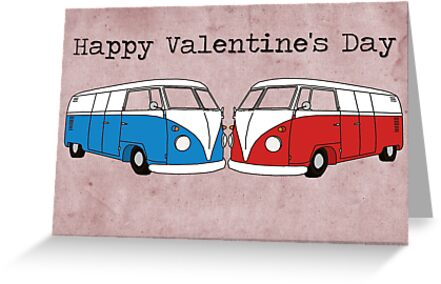 VW Valentine's Day Card by Bami