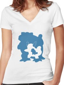 Squirtle Inception Women's Fitted V-Neck T-Shirt