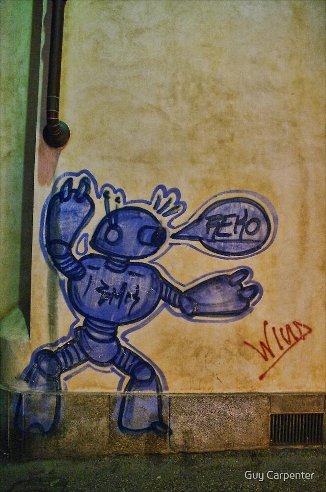 Robot Graffiti in Rivoli, Italy by Guy Carpenter