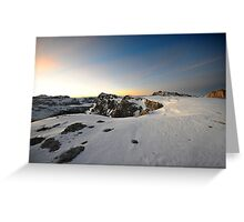 Mountain landscape during sunset Greeting Card