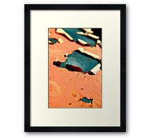 My fish cannot swim backwards Framed Print